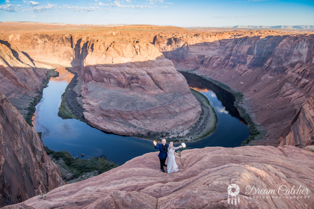 Hogan Horseshoe Bend Tower Butte Wedding (3)