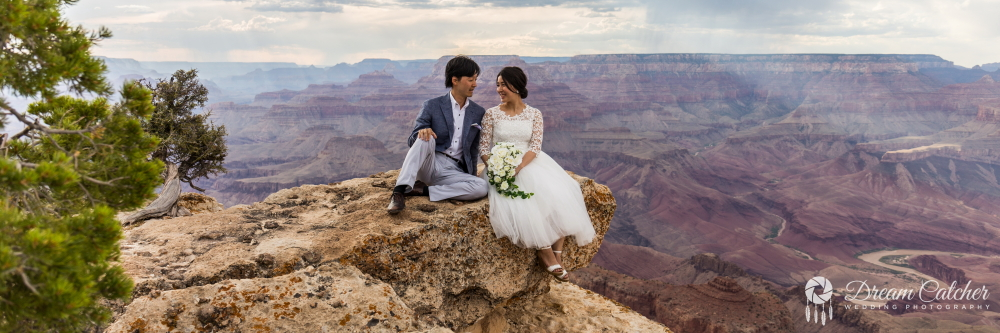 Lipan Point Sunset wedding1