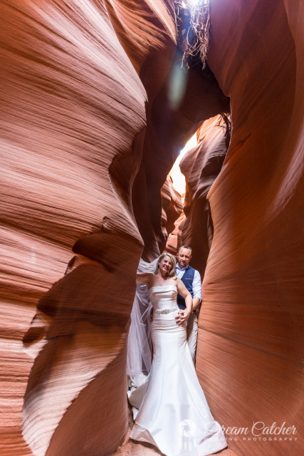 Secret Slot Canyon Wedding Location