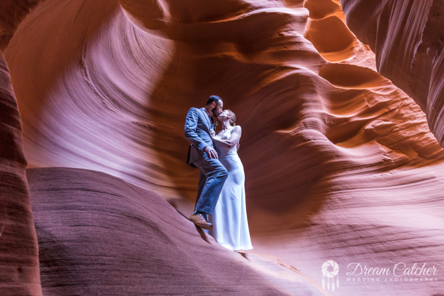 Slot Canyon Horseshoe Bend Wedding   (2)